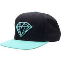 Diamond Supply Brilliant Black & Blue Snapback Hat