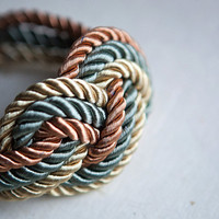 NEW Big Gold Olive and Copper Nautical Knot Rope by pardes