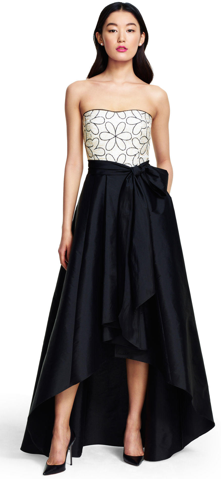 Strapless Taffeta High Low Ball Gown From Adrianna