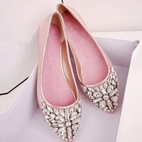 LilyVanity™ Crystal Embellished Flats