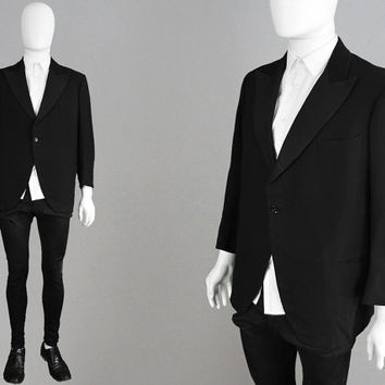 Vintage 1930s Dinner Jacket Mens Antique Jacket Black Tuxedo Jacket Peaked Lapels Evening Jacket 30s Dinner Jacket Art Deco Wool Blazer