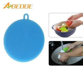 DCCKU7Q ABEDOE Silica Wash Bowl Brushes Universal Brush Hot Multipurpose Antibacterial Silicone Smart Sponge Cleaning Dish Kitchen Tool