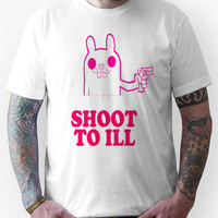 Pink Rabbit Says SHOOT TO ILL Unisex T-Shirt