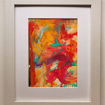 024 Original  Abstract  Art on Paper. Free-shipping within USA.