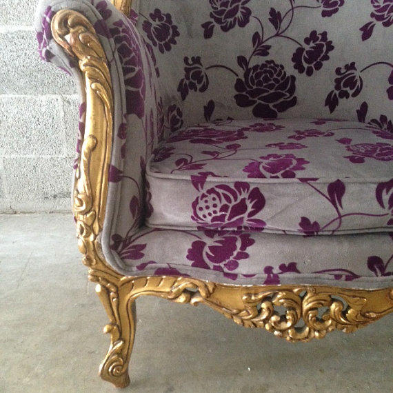 Antique Italian Baroque Chair Wingback From