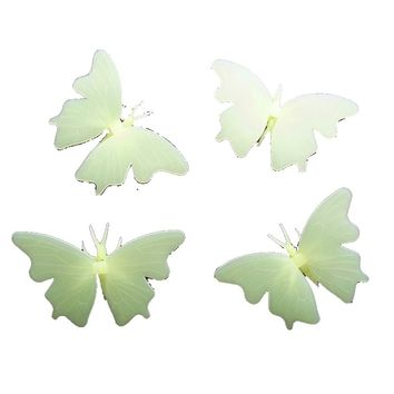 Butterfly Color Glow In The Dark Stickers Decal