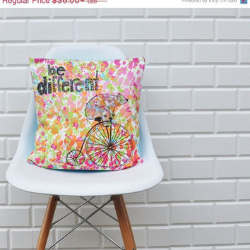 "Cyber Monday Printed Decorative Pillows, Kids Pillow, Kids Print Pillows, Throw Pillow, Nursery Pillow, Cushion Cover, Bear 16"" x 16"""