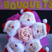 Santa Claus Flower Bouquet. Great christmas gift!!!