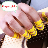 Folk Guitar Finger Pick Parts 4 Pieces Musical Delrin Video Evaluation Recording Instruments  Accessories Alaska Color Ukulele