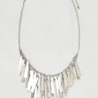 AEO Women's Bars Fringe Necklace (Silver)