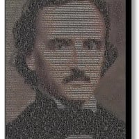 Edgar Allan Poe The Raven text Mosaic INCREDIBLE