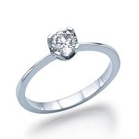 Marilyn - Solitaire Engagement Ring in 14k white gold (.51 ct t.w)