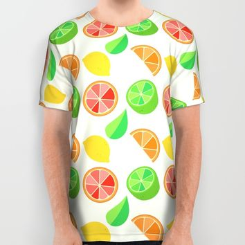 Citrus Pattern All Over Print Shirt by Adorkible