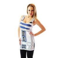 Star Wars R2-D2 Robot Juniors White Costume Tank Dress
