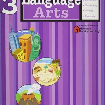 Language Arts Grade 3 (Flash Kids Harcourt Family Learning)