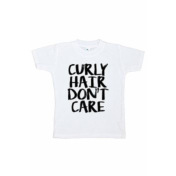 7 ate 9 Apparel Funny Kids Curly Hair Don't Care T-shirt