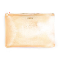 keep it classy zip pouch - metallic rose gold
