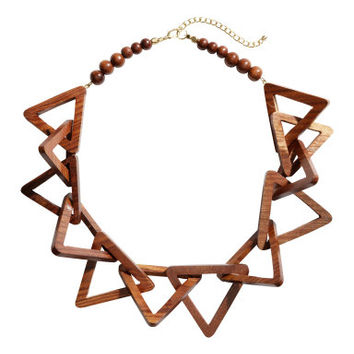 H&M Wooden Necklace $19.95