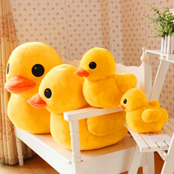 "Free shipping 1pcs 20cm 7.9"" Big Yellow Duck Stuffed Animals Plush Toy Cute Big Yellow Duck plush toys For Birthday gift"