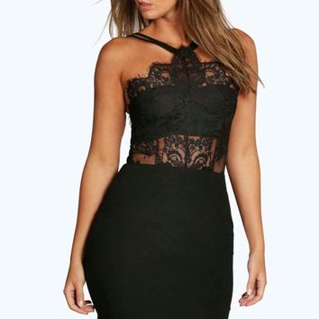 Boutique Sophia Eyelash Bodycon Dress | Boohoo