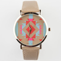 Southwest Print Watch Brown One Size For Women 23273940001