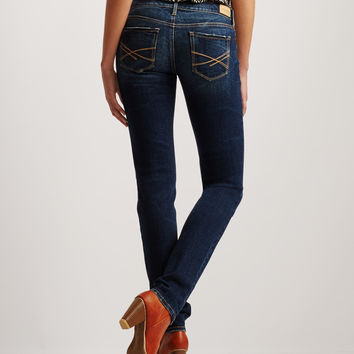 Skinny Destroyed Dark Wash Jean