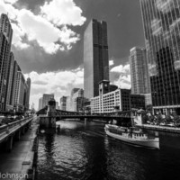 Chicago River, Fine Art Photography, 8 x 10 Chicago, Home Decor, Office Decor, City Photography