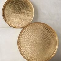 Textured Cocktail Trays by Anthropologie Gold Set Of 2 Decor