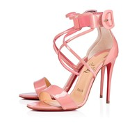 Choca 100 Guimauve Patent Leather - Women Shoes - Christian Louboutin
