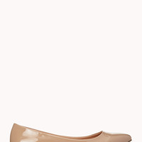 FOREVER 21 Classic Patent Flats Nude 5.5