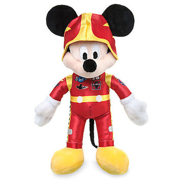 """Disney 9 1/2"""" Mickey Mouse Plush Mickey and the Roadster Racers New with Tags"""