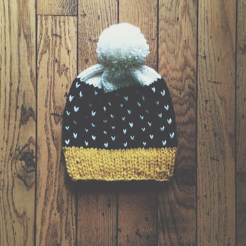 Fall and Winter Hat | Fair Isle | stranded color work | fall hat | fashion hat