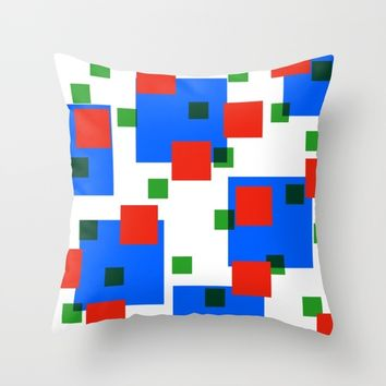 RGB Throw Pillow by Moonlit Emporium