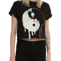 Drippy Yin-Yang Girls Crop Top