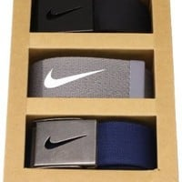 Nike Mens Tech Essentials 3 Pack Belt Gift Set