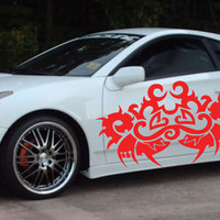 Japanese Dragon Tribal Tattoo Street Racing Design Racing Drift Tuned Car vinyl graphics SUV tr187