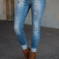 Just Take A Zip Skinny Jeans, Denim