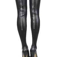 RA80043 Newly design women stay up latex stockings black super stretch sexy stockings fitness cosplay thigh high stockings