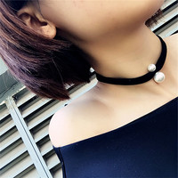Beauty Joker Pearl Collar Necklace