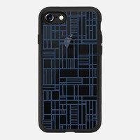 Map Lines Navy Transparent iPhone 7 Case by Project M | Casetify
