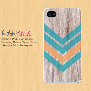 Wood Aztec Tribal Mint iPhone 5 Case, iPhone 4 case, Geometric Pattern iPhone 4s Cover, Triangle Hard Plastic iphone 5 Cover, cases