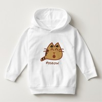 Cute Brown Kawaii Meowing Cat #meow Hoodie