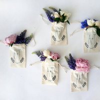 WEDDING SOUVENIR/ personalized screen printed small wedding souvenir bags, custom wedding souvenirs, table decoration gift