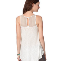 Aeropostale  Womens Sheer Keyhole-Back Hi-Lo Tunic