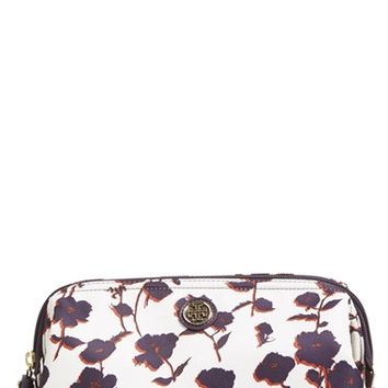 Tory Burch Large Floral Print Cosmetics Case - Purple Iris