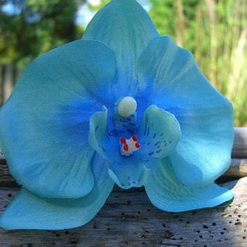 Orchid Flower Hair Clip Weddings Beach Destination Vacations Tropical Flowers