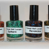 4 HARRY POTTER house color Nail polishes