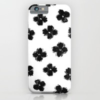 ink flowers iPhone & iPod Case by Her Art