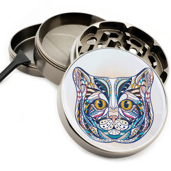 "My Colorful Cat - 2.5"" Premium Zinc Herb Grinder"