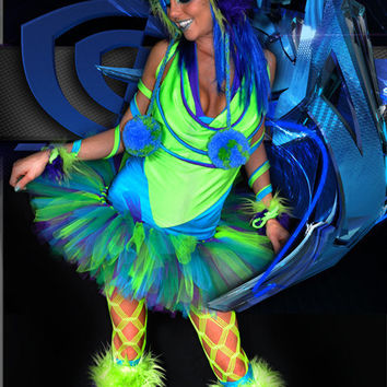 Virtual Rave Costume by SparkleFide on Etsy